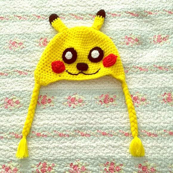 Accessories | Handmade Pikachu Hat | Poshmark